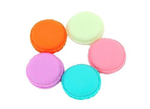 Lot de 20 5 g 5 ml vide rechargeable Macaron Voyage Plastique Cosmétique échantillons de conteneurs avec bouchon à visser Bocal Pot maquillage Crème pour le visage Baume à lèvres Fard à paupières Boîte de rangement