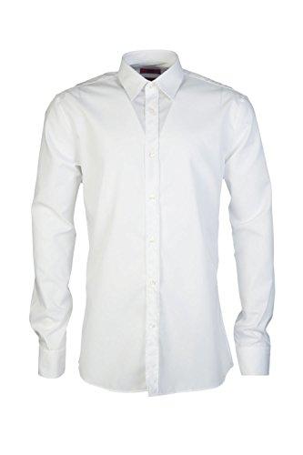 Hugo Boss - Chemise business - Hauts casuals - Aucun motif - Manches Longues - Homme Blanc 001