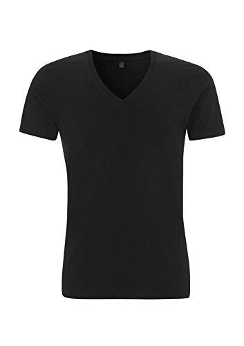 EarthPositive - Men's Organic V-Neck T-Shirt Black
