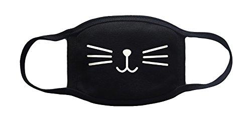 Sassy Pippi Unisex Süße Mundschutz Maske Emojimaske Kälteschutz Gesichtsmaske (Katze B)