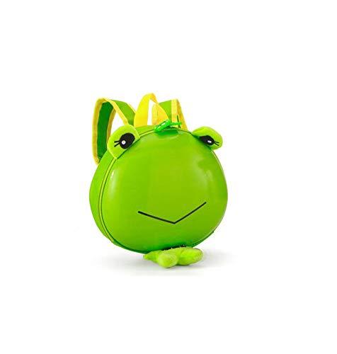 Kinderschultasche - Schultertierrucksack Männliches Mädchen Cartoon Eierschale Kleiner Grüner Frosch 24 * 6 * 22