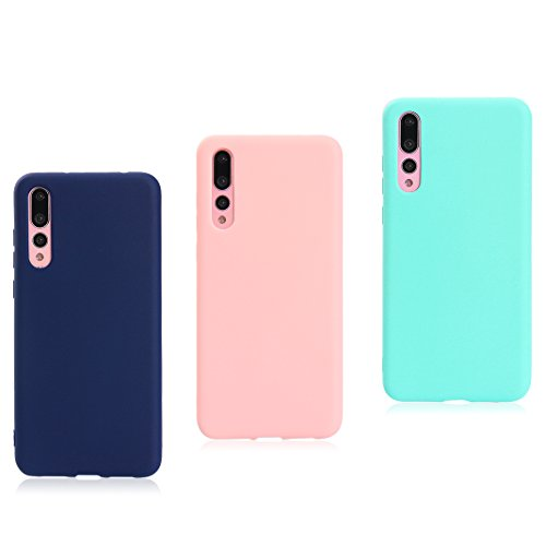 Asnlove 3 Pack Ultra Dünn Tasche TPU Handy Fälle Schutzhülle Handykappen Anti-Scratch Bumper Case mit Pure Motiv Silikon Schutzhülle Für Huawei P20 Pro Smartphone