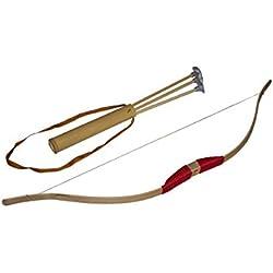 Juguetutto - Arco Punta Ventosa ROJO. Con este arco de madera grande cualquier niño se lo pasará en grande lanzando sus flechas incorporadas