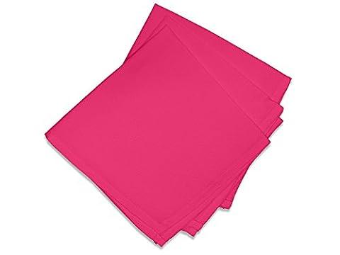 Soleil d'Ocre 838231 Lot de 3 Alix Serviettes de Table Polyester Rose/Framboise 40 x 40 cm