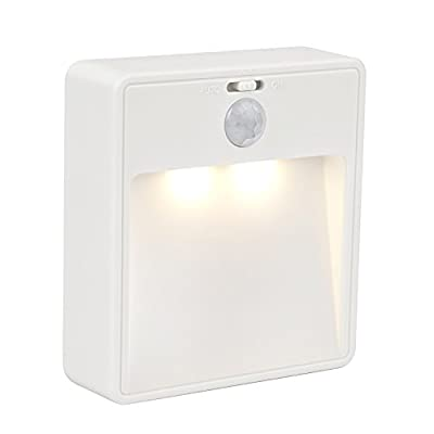 JESWELL Wireless Motion Sensor Light Battery Powered LED Night light, Wall Mounted or Stick Anywhere for Hallway, Stairway, Washroom, Wardrobe, Closet, On/Off Switch [Classic Style] - inexpensive UK light shop.