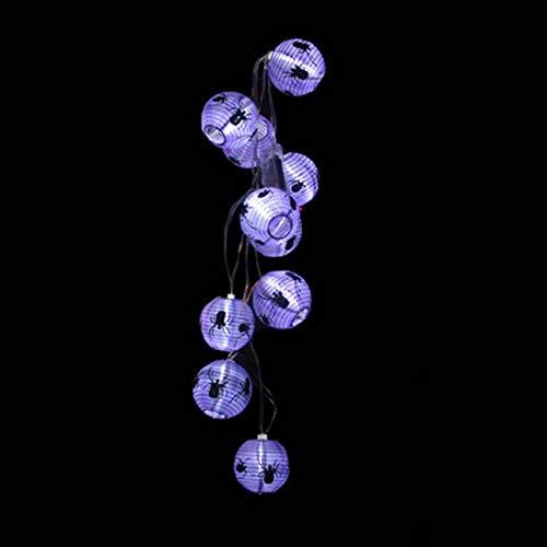 3D LED-Licht Schnur, Kürbis/Spinne/Augapfel/ Laterne String Batterie-Betriebene LED, DIY-Dekoration Halloween/Themen Party/Karneval/Festival/Feier Und Andere Besondere Anlässe 3.2 M16 Lichter,Purplespider