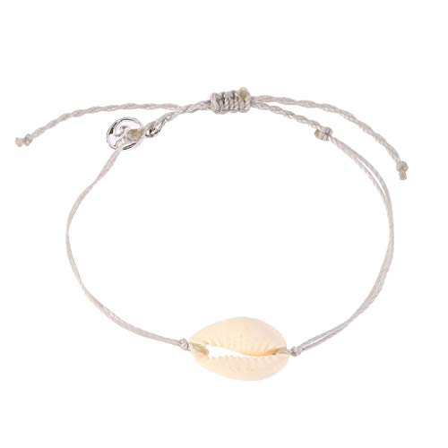 UINGKID Damen-Armband Armreif natürliche Shell handgewebte verstellbare Pull Armband Damen Schmuck
