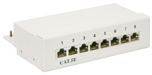 CAT 5e Ethernet Patch Panel 8 Port STP Geschirmt; NET PATCH PANEL CAT5e 8 PORT SHIELDED -
