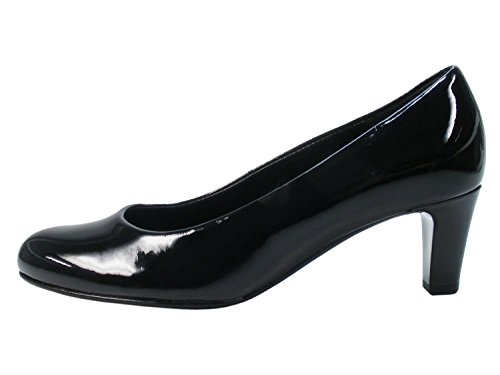 Gabor Nesta Womens Leder Kleid Pumps 7.5 UK/ 41.5 EU Black Patent Hi-Tec -