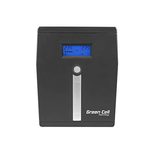 Green Cell® UPS USV Unterbrechungsfreie Stromversorgung 1500VA (900W) 230V 1000VA-1999VA Line-Interactive Power Supply USB/RJ45 4X Schuko LED-Anzeige