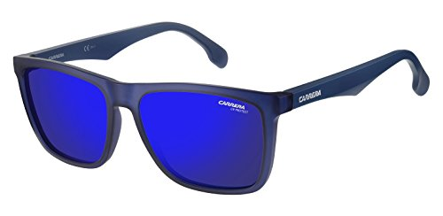 Carrera Mirrored Square Unisex Sunglasses - (CARRERA 5041/S RCT 56XT|56|Blue Color)