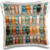 Markets - Tunisia, Tunis, Carthage, Market, babouches slippers 16x16 inch Pillow Case