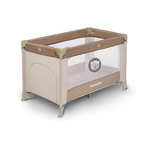 Lionelo LO-ADRIAA CAPPUCCINO Adriaa Kinderreisebett Reisebett Baby Laufstall Wippe Wiege Klappbaren, Cappuccino, 8.5 kg