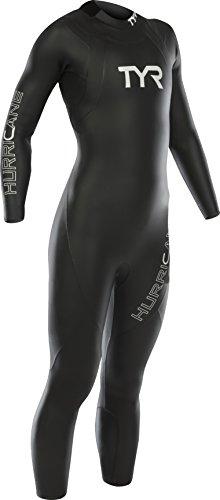 TYR Hurricane C1 Combinaison Triathlon Femme, Noir/Blanc, FR : XS (Taille Fabricant : XS)
