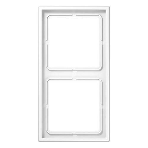 Preisvergleich Produktbild Jung Rahmen 2fach LS 990 alpinweiß, 1 Stück, LS 982 WW