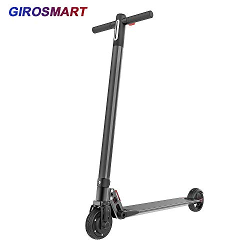 GiroSmart E-Scooter Klappbar Nur 7,7Kg Elektroscooter Erwachsene Bis 20 km/h Reichweite15km E Roller Mit Vorderen und Hinteren Rückleuchten EINWEG