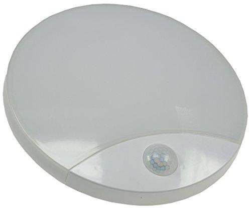 LED Wandleuchte RAMINHO mit PIR Sensor Bewegungsmelder IP44 10W 910Lumen 3000k 230V warmweiß ideal für Flur Büro Treppenhaus auch für Feuchträume geeignet
