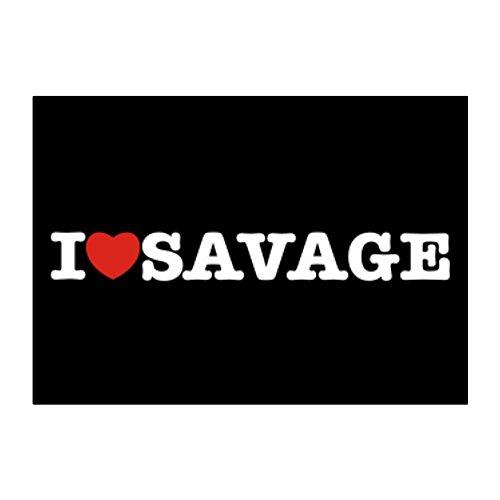 Teeburon I love Savage Aufkleber Packung x4 -