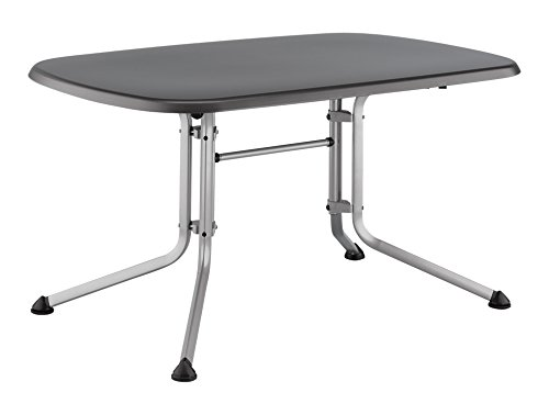 Kettler Gartentisch Oval 140x90cm Silber Eisengrau Aluminiumgestell