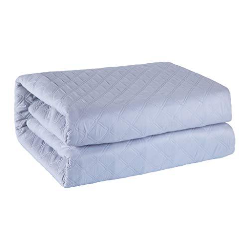 GXCDRT Einzelne und Doppelte Heizdecke, Hochwertige Komfort-Sanitärdecke, 5-stufiger Überhitzungsschutz für Temperaturregelung, Schlafzimmerbett (Farbe : Hellgrau, größe : 180 * 150cm)