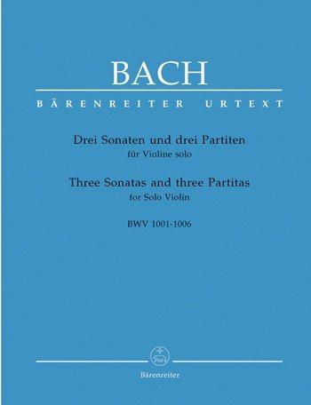 Johann Sebastian Bach, 6 Sonaten und Partiten BWW1001-1006 : für Violine Solo in der Bärenreiter Edition - Noten/Sheet Music
