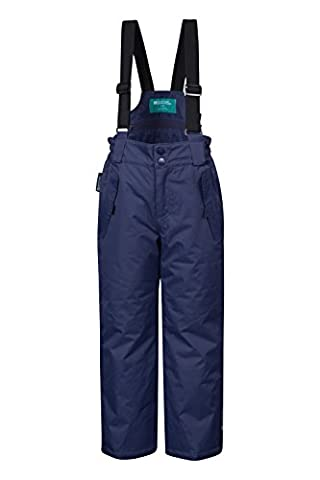 Mountain Warehouse Pantalon de Ski Enfant Garçon Fille Salopette Snowboard Pare-neige bretelles Hiver Honey Bleu marine 3-4 ANS