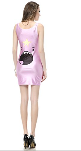 Thenice Damen A-Linie Kleid Mehrfarbig SKULL BLACK One size Lumpy space