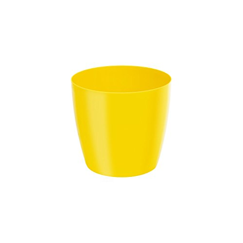 Classique luisant cache-pot LOBELIA, 14 cm, en jaune