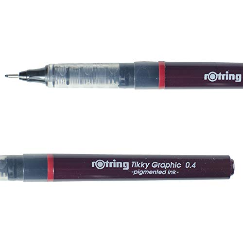 Rotring Tikky Graphic fineliner Pigment penna: nero 0.40 mm