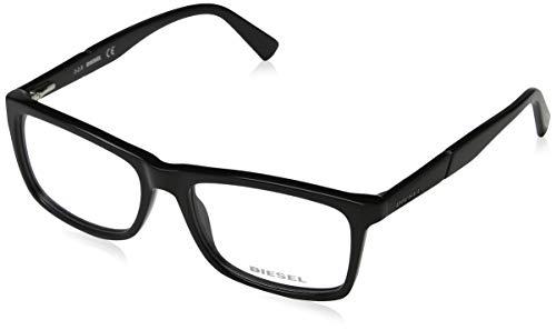 Diesel Unisex-Erwachsene Brillengestelle DL5238 001 53 Schwarz (NERO LUCIDO),
