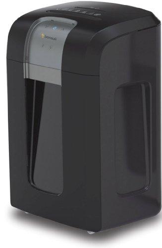 Bonsaii 3S23 Aktenvernichter, bis zu 14 Blatt Papier, Partikelschnitt (Sicherheitsstufe P-4), mit CD - Shredder, 2 Stunden Dauerbetrieb (entspricht ca. 7000 DIN A4 Seiten), schwarz/silber