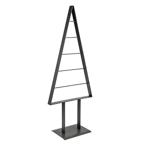 edelstahlheini.de Tannenbaum Metall künstlich Weihnachtsbaum Edel Graphit Pearl Matt 98cm (Graphit Pearl)