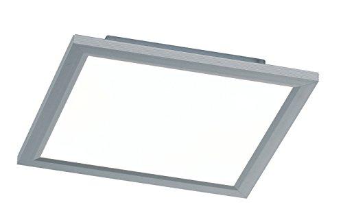 WOFI Deckenleuchte, Aluminium, Integriert, 18 W, Silber, 30 x 30 cm
