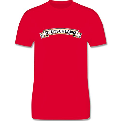 EM 2016 - Frankreich - Deutschland Fanschal - Herren Premium T-Shirt Rot