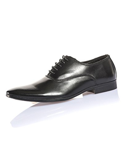 BLZ Jeans - Chaussure Chic Homme Noire Effet Cuir