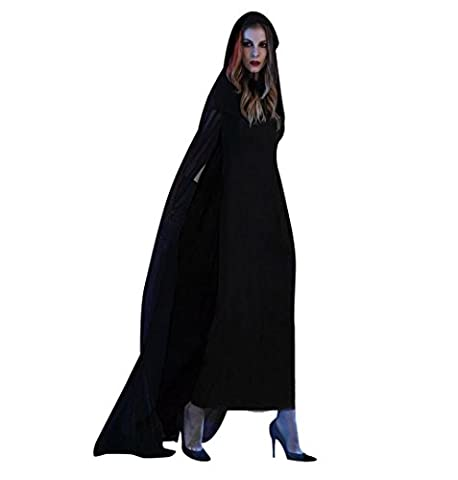 Damen Kostüm für Karneval Halloween,ZEZKT 2017 Cosplay Zombie Braut Halloween Vampir Kostüm Dress Set Schwarz Böse Fee (Böse Braut Halloween-kostüm)