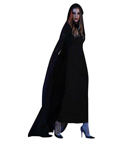 Damen Kostüm für Karneval Halloween,ZEZKT 2017 Cosplay Zombie Braut Halloween Vampir Kostüm Dress Set Schwarz Böse Fee (L) (Kind Vampir Braut Kostüm)