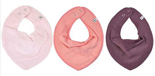 PIPPI * 3er SET Mädchen Baby Kinder Dreieckstuch Halstuch Schal scarf 3 Stück * cream, peach, pflaume