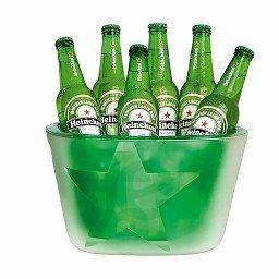Heineken Eiskübel - Bierkühler für 6 Bierflaschen, in den Heineken-Farben und mit Heineken-Logo