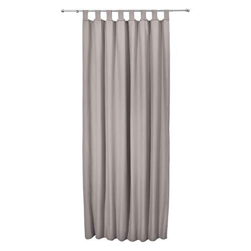 Beautissu tenda termica con passanti serie amelie - 140x245 cm grigio - tenda isolante e anti-sguardi indiscreti