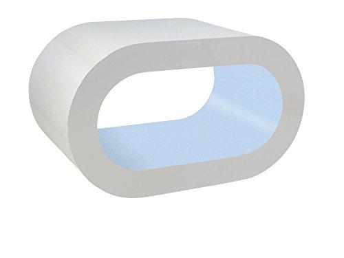 Zespoke Design Tableau Blanc et Bleu Bébé Cerceau Café TV/Meuble en Différentes Tailles