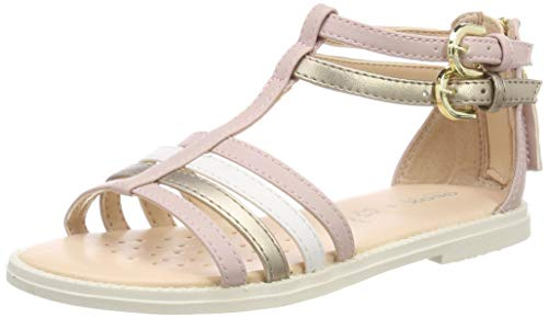 Geox Girls' J Karly D Open Toe Sandals, Pink (Rose C8011), 11.5 UK Child