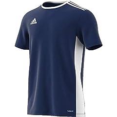 Idea Regalo - adidas Entrada 18, Maglietta Uomo, Blu (Dark Blue/White), M