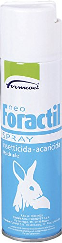 Formevet - PEZZI 2 - Antirogna Insetticida Spray Ml.250 Foractil