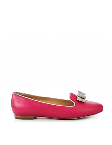ShoeVita handgefertigte Loafer Damen Leder Slipper Pink & Grau Größe 33 - 45 Pink
