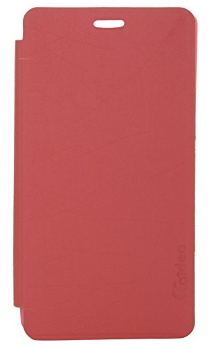 iCandy™ Soft TPU Non Slip Back Shell PU Leather Hybrid Flip Cover For Sony Xperia C C2305 - RED  available at amazon for Rs.195