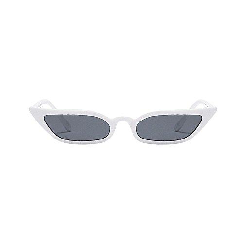 Myfilma ◔◡◔ Frauen Arbeiten Weinlese-Katzenauge-Sonnenbrille-Retro- Kleiner Rahmen UV400 Eyewear-Gläser um