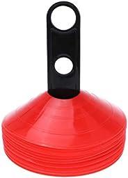 STOBOK Coni da Allenamento Sportivi 25Pz Coni per Ostacoli Marcatore in Plastica con Supporto per Calcio Patti