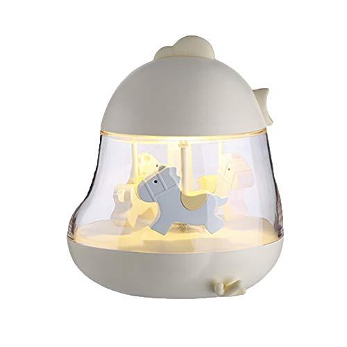 Carrousel Musique Lumières Cadeau Parent-enfant Jouet Cadeau Musique Veilleuse Chambre Dortoir Coloré Veilleuse (Couleur : Jaune)