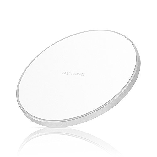 Limxems 10W Fast Wireless Charger Schnelles Qi Induktions Ladegerät, Ladestation für iPhone XS/XR/X/8/8 Plus, Samsung Galaxy S9/S8/S8 Plus/S7/S6 Edge/Note 8/Note 5 und Alle Qi-Fähige Geräte